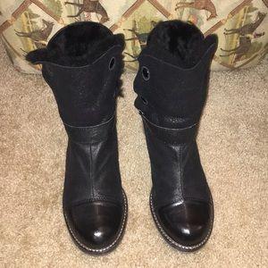 Matt Bernson Shearling & Leather boots sz 8